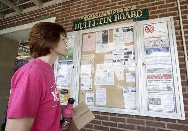 Grocery Store Bulletin Board