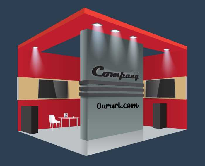 Tradeshow Booth with URL